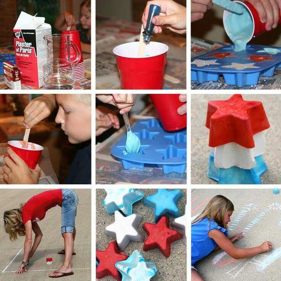 4th of july chalk