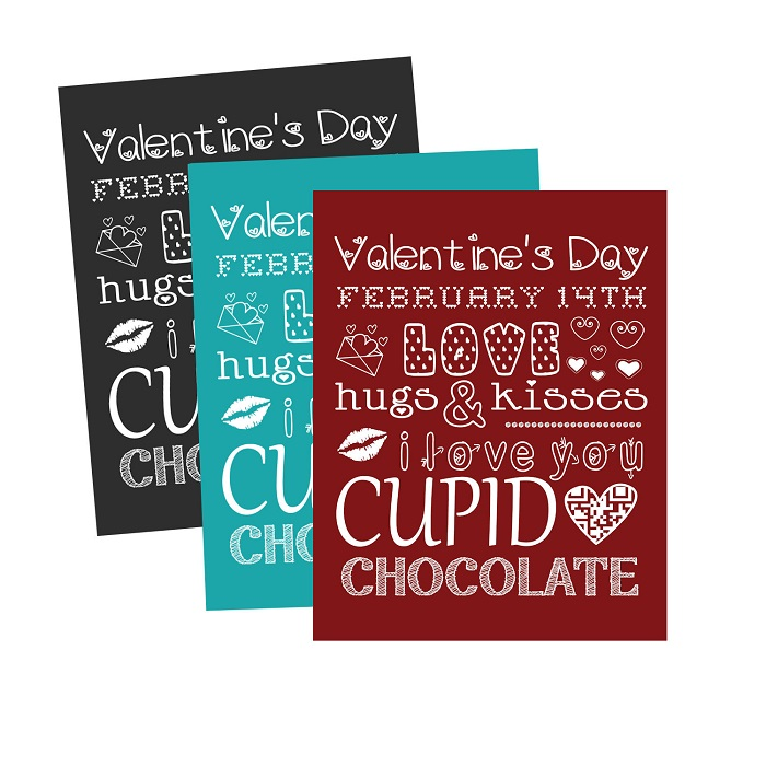 Valentine's Day Free Printable Subway Art