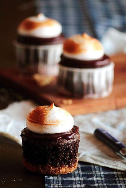 fall smores cupcakes