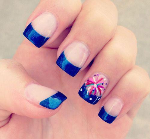 Firecracker nail art