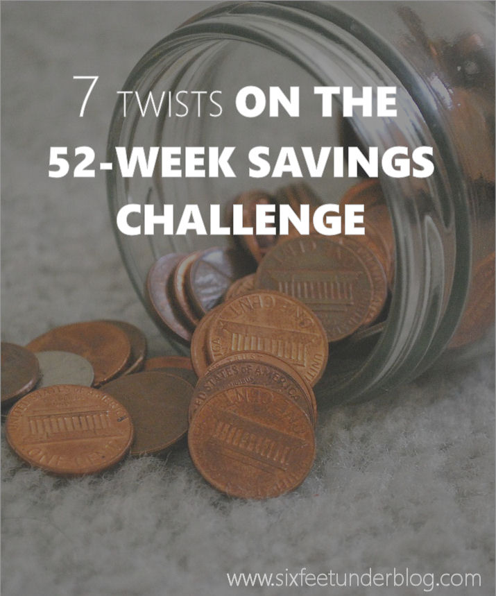 7 Twists on 52 Week Savings Plan Ideas