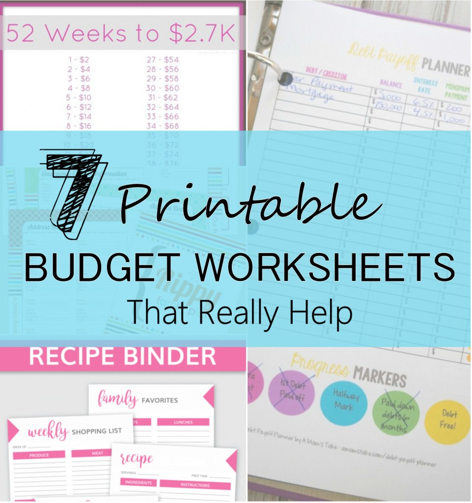 7 Printable Budget Worksheets That Really Help