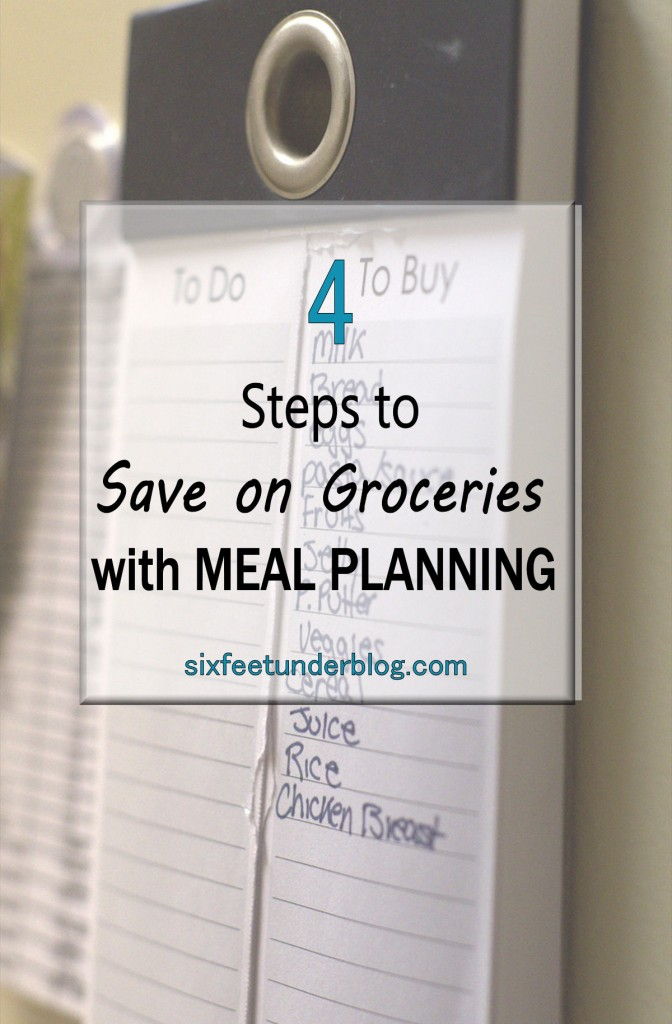 4 Steps to Save on Groceries with Meal Planning