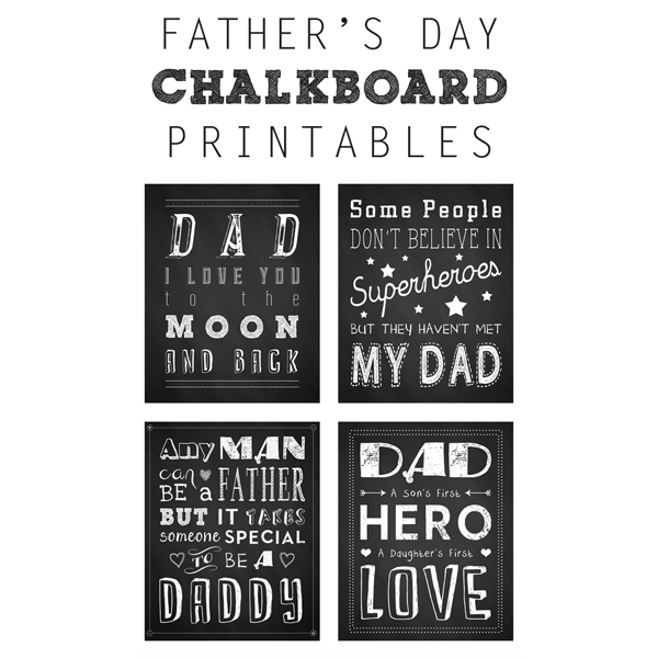 fathers day printable gift idea