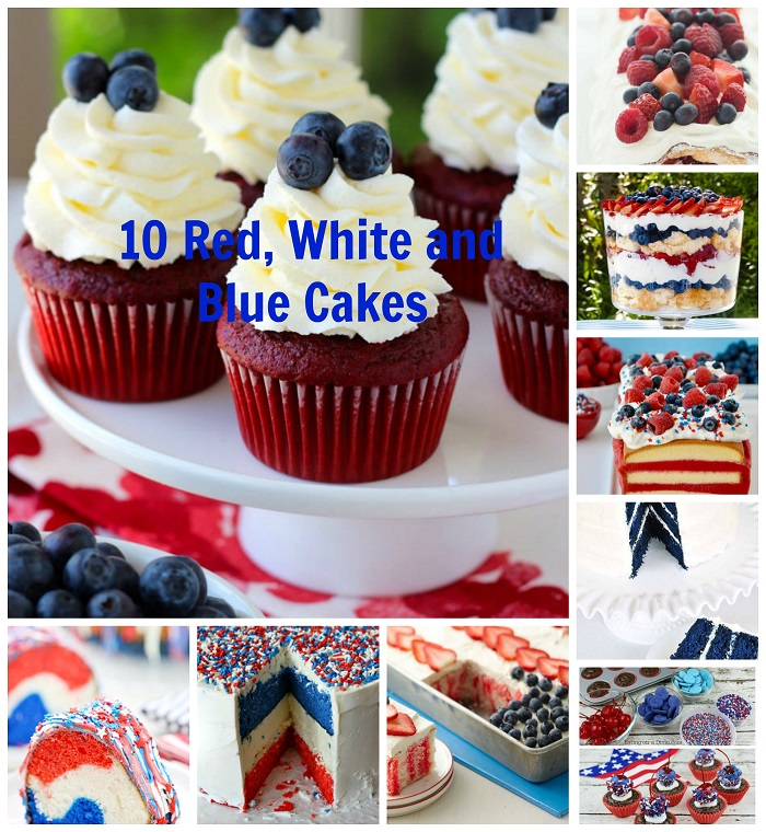 10 Red, White and Blue Cakes That Rock For Fourth of July