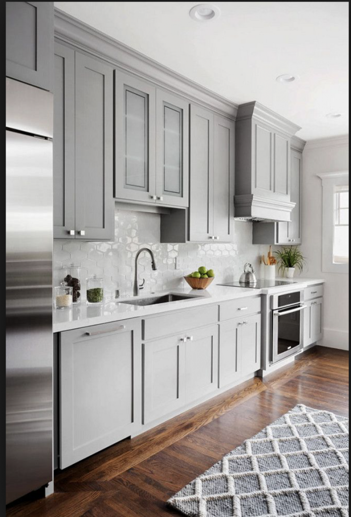 grey diy kitchen ideas